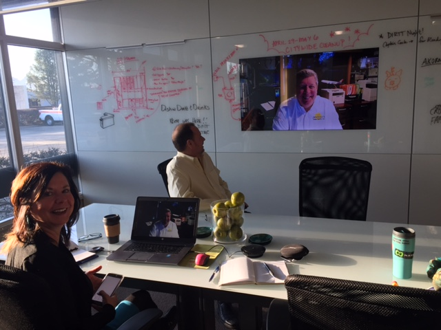 Morning Video Conference Calls